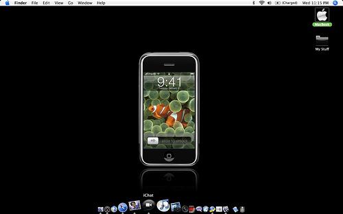 Как сделать черным фон в айфоне