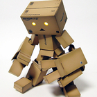 robot made of boxes