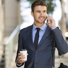 businessman commute phone