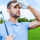 confident golfer