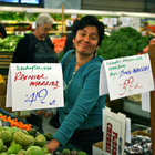 Woman shopping for produce