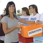 woman donation volunteers