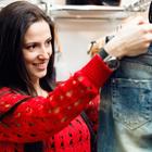 woman jean shopping