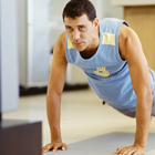 man workout video
