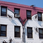 Fake ants on a building