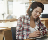 Woman using gadgets every work at home professional needs