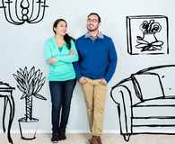 Couple deciding if they need an architect, contractor, or designer