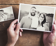 the best way to organize old family photos