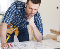 Man learning types of home improvements to negotiate