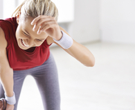 Woman trying tricks to avoid exercise burnout