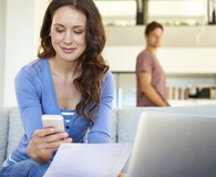 Woman filing tax extension and finding out what she needs