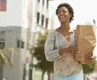 Woman saving big at 4 major discount supermarkets