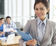 Woman finding reasons to still go to the bank