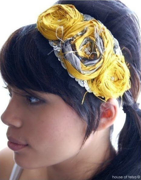 flowered headpiece