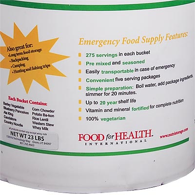 Emergency Food Supply close