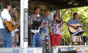 Bluestem String Band playing at Strawberry Jam