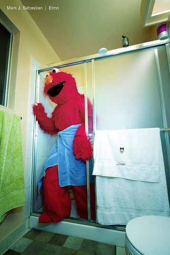 elmo shower