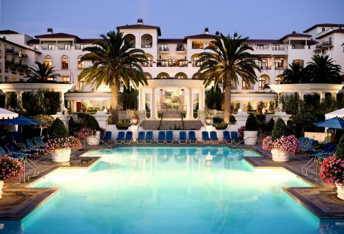 st regis pool at night