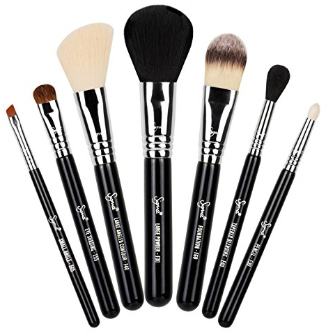 best eye makeup brushes. the set includes a large powder brush, angled contour foundation eye pencil best makeup brushes