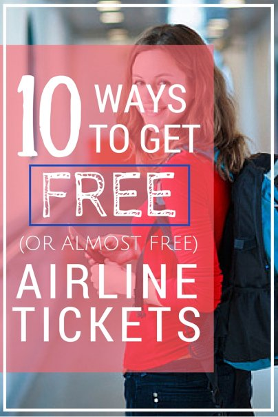 10 ways to get free or almost free airline tickets like this article pin it spiritdancerdesigns Choice Image