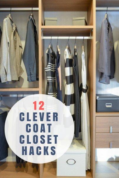 12 Clever Coat Closet Hacks