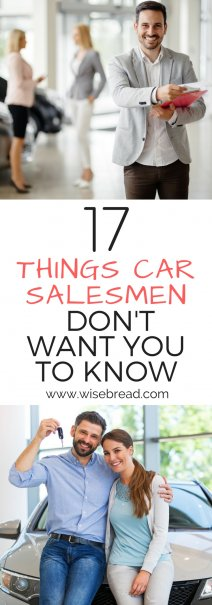 17 things car salesmen don 39 t want you to know. Black Bedroom Furniture Sets. Home Design Ideas