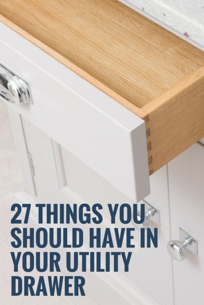 27 Things You Should Have in Your Utility Drawer