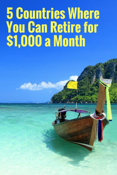 5 Countries Where You Can Retire for $1,000 a Month