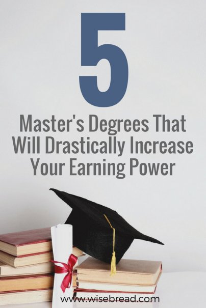 5 Masters Degrees That Will Drastically Increase Your Earning Power