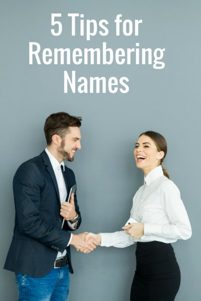 5 Tips for Remembering Names