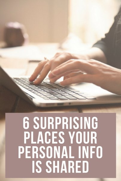 6 Surprising Places Your Personal Info Is Shared