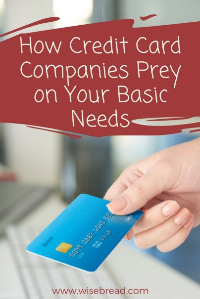 How Credit Card Companies Prey on Your Basic Needs