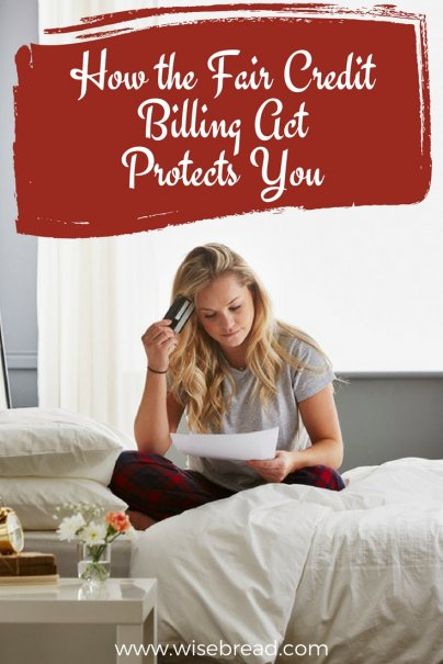 How the Fair Credit Billing Act Protects You