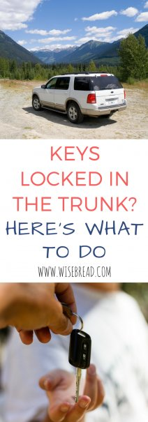 Keys Locked in the Trunk? Here's What to Do