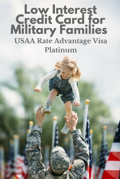Low Interest Credit Card for Military Families: USAA Rate Advantage Visa Platinum
