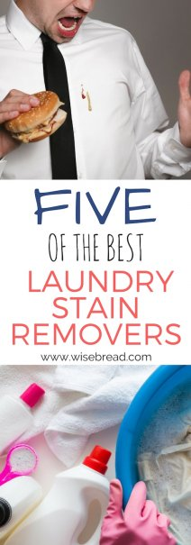 The 5 Best Laundry Stain Removers
