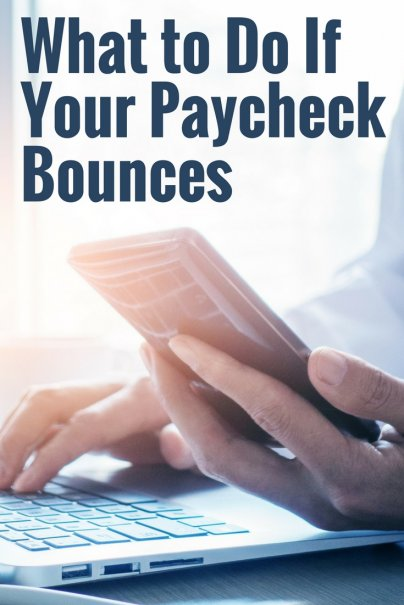 What to Do If Your Paycheck Bounces