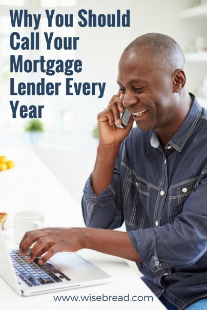 Why You Should Call Your Mortgage Lender Every Year