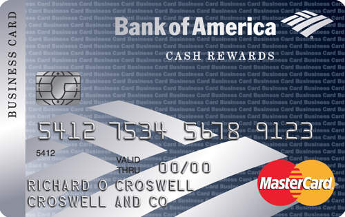 bank of america business credit card processing