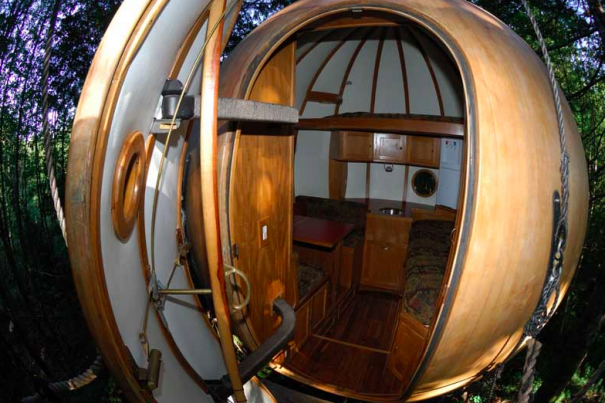 a marriage of tree house and sailboat technology these spheres populate a rainforest in vancouver island british columbia from inside they more - Inside Huge Houses
