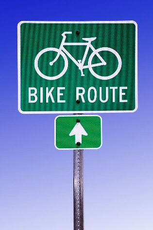 bike route traffic sign