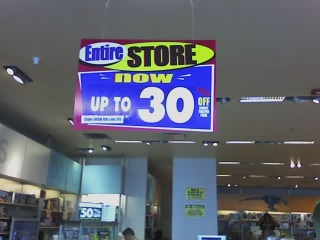 Discovery Store sale sign