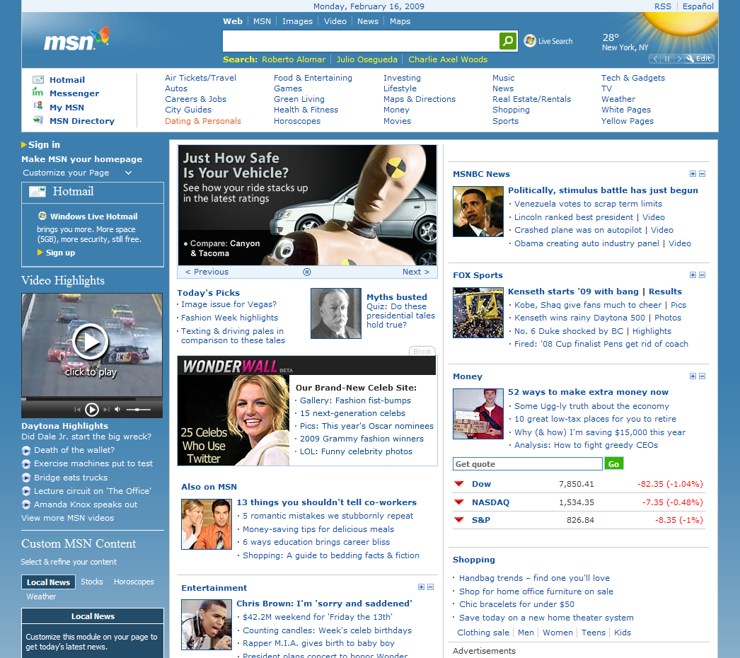 Screenshot page