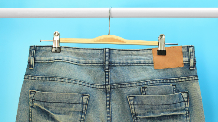 REUSE Jeans Light Wash Denim Straight Leg Jeans