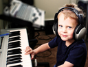 Child playing keyboard