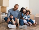 Family buying new home without stress