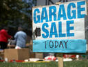 garage sale today sign