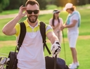 Man spending money on golfing