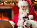 Santa shopping with a credit card