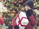 Woman using holiday shortcuts to go christmas shopping